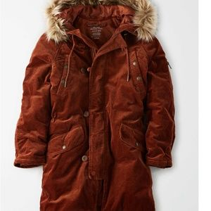 American Eagle CORDUROY PARKA New W/Tags